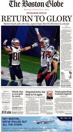 New England Patriots win the Superbowl (February New England Patriots Football, Patriots Fans, Nfl Football, Football Players, Champions Of The World, Go Pats, Lets Go, Boston Strong, Boston Sports