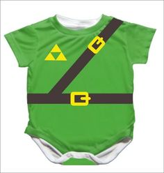 Legend of Zelda Onesie! Geek baby. Gamer baby.