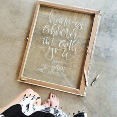 Marvy Uchida Bistro Chalkboard Markers to create this beautiful inspirational quote for your home. With a glass frame, it is easy to make this stunning home decor project.