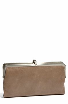 The Hobo International Lauren Double Frame Clutch would be the perfect replacement for my old wallet!  I WANT!