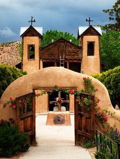 Santuario de Chimayo Church. In the village of Chimayo, New Mexico