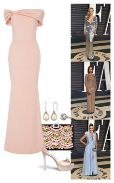 """""""2017 Vanity Fair Oscar Party - Part 2."""" by foreverforbiddenromancefashion ❤ liked on Polyvore featuring Roger Vivier, Christian Siriano and Jimmy Choo #rogerviviervanityfair"""