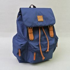 Taro Navy! IDR 210.000,- #tuskbag #bestseller #bag #vintage #taro #Navy #polyester #leather | CS Center 7D1041AA |