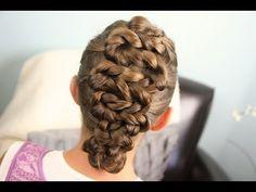 Zig-Zag Twists | Updos | Cute Girls Hairstyles - YouTube