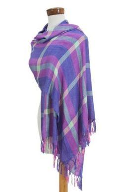 Maya shawl, 'Eternal Orchid' NOVICA. $52.95