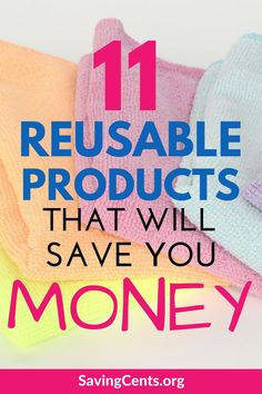 These reusable products will help you create an eco friendly home that will also save you a lot of money. #reusableproducts #ecofriendly #frugal #kitchenhacks #savingcents