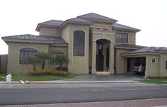 Unique House Design, Home Design Decor, Best House Plans, Dream House Plans, Double Storey House Plans, Luxury Homes Dream Houses, Exterior Paint Colors For House, Mediterranean Homes, Beautiful Homes