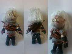 Geralt of Rivia, From the videogameThe Witcher Wildhunt- Crochet doll