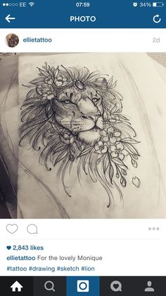 ideas about Lion Thigh Tattoo on Pinterest | Feminine thigh tattoos ...