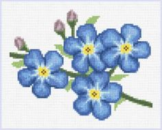 Forget Me Nots cross stitch pattern.