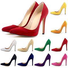 HooH Damen Flanell Büro-Dame Pointed-toe Stiletto Abendschuhe Pumps - http://on-line-kaufen.de/hooh/hooh-damen-flanell-buero-dame-pointed-toe-pumps