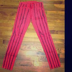 """BLANK NYC DENIM Striped Skinny Jeans Sz 25 BLANK NYC DENIM Striped Skinny Jeans Sz 25! Retail-$98 Measurements- Waist-13.5"""" Inseam-28"""" Blank Denim Pants Skinny"""