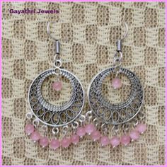 Pink Chandeliers - Online Shopping for Earrings by GAYATHRI JEWELS