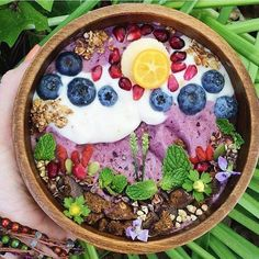 Beautiful for the eye and healthy for the body.  #blueberry #yogurt#detox#health#healthy#food#foodpic #f4f