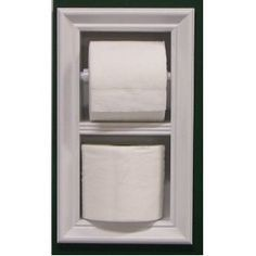 Picture of bathroom with magazine holder in wall mr 2 in wall magazine rack toilet paper combo for Recessed in the wall bathroom magazine rack