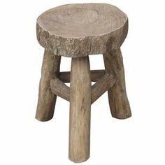 "Reclaimed elm stool. Product: StoolConstruction Material: Reclaimed elm woodColor: NaturalDimensions: 17.25"" H x 13.25"" Diameter"