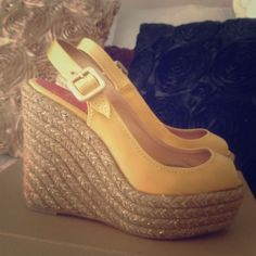 Christian Louboutin espadrilles size 37 Gently used Christian Louboutin espadrilles wedges size 37 TTs rare & as seen on celebrities Christian Louboutin Shoes