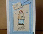 OOAK Happy Birthday Fox Card. £2.50, via Etsy. #craftyfolk