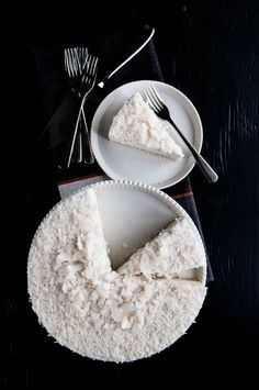 Coconut Mousse Cake by hungryrabbitnyc #Cake #Coconut_Mousse