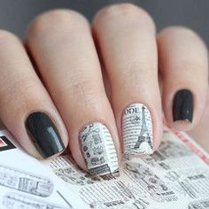 These water decals will give your nails a touch of Paris, France that include designs of the Eiffel Tower! Just beautiful! Beautiful nails by vellinails