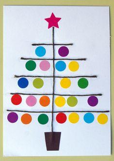 play together-fir wool stickers 10 Days Of Christmas, Homemade Christmas Cards, Diy Christmas Tree, Kids Christmas, Christmas Decorations, Toddler Crafts, Crafts For Kids, Navidad Diy, Preschool Christmas
