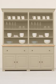 White Kitchen Dresser the studio #025 kitchen dresser painted in saltmarsh, from the