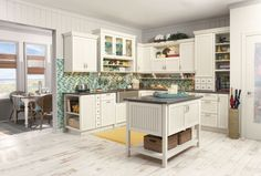 Merillat Classic Avenue W5 Piece Drawer in Maple Chiffon with Tuscan Glaze