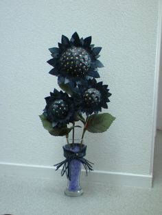 Flowers made from inner tube rubber
