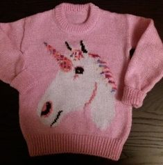 Gallery of knitting patterns Unicorn Knitting Pattern, Jumper Knitting Pattern, Jumper Patterns, Baby Knitting Patterns, Scarfs, Baby Dress, Knitwear, Free Pattern, Projects To Try