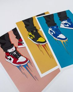 Nike Air Jordan sneaker poster / wall art / nike t Nike Air Jordans, Jordans Sneakers, Dope Cartoon Art, Cartoon Kunst, Cartoon Wallpaper, Air Jordan Sneaker, Dope Kunst, Sneaker Posters, Trippy Painting