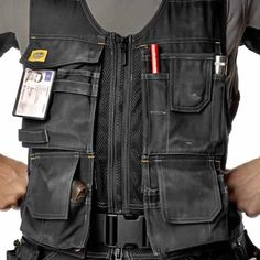 Tool vest, instead of belt.