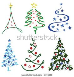 Christmas Tree Design Set – Six tree designs in set Christmas Doodles, Christmas Drawing, Diy Christmas Cards, Christmas Decorations, Christmas Ornaments, Vector Christmas, Christmas Tattoo, Tree Decorations, Christmas Rock