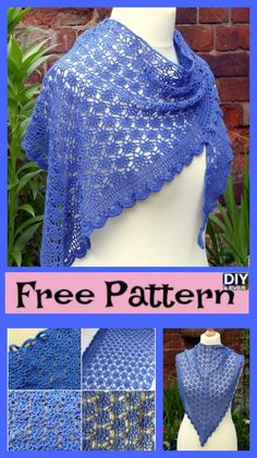 Elegant Crocheted Lace Shawl – Free Pattern #freecrochetpattern #shawl #crochetlaceshawl #freepattern