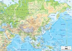 10 Best Physical Maps Images Map Asia Map Africa Map