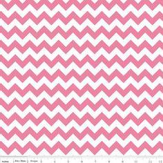 Riley Blake Small Chevron Stripes Hot Pink by spiceberrycottage, $8.95