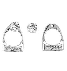 KH Small English Stirrup Earring Jackets