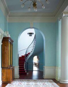 Old Westbury, New York — Oliver Cope Architect Interior Styling, Interior Decorating, Interior Design, Westbury New York, Dog Stairs, Gambrel, Entry Hallway, Plantation Homes, Architecture Details