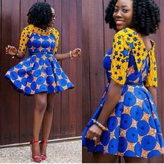 The complete pictures of latest ankara short gown styles of 2018 you've been searching for. These short ankara gown styles of 2018 are beautiful Ankara Short Gown Dresses, Ankara Short Gown Styles, Trendy Ankara Styles, Short Gowns, Ankara Dress, Ankara Fabric, Ankara Blouse, Kente Styles, African Fabric