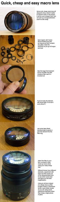 diy macro photography lens by http://nullboy.deviantart.com on /deviantart/