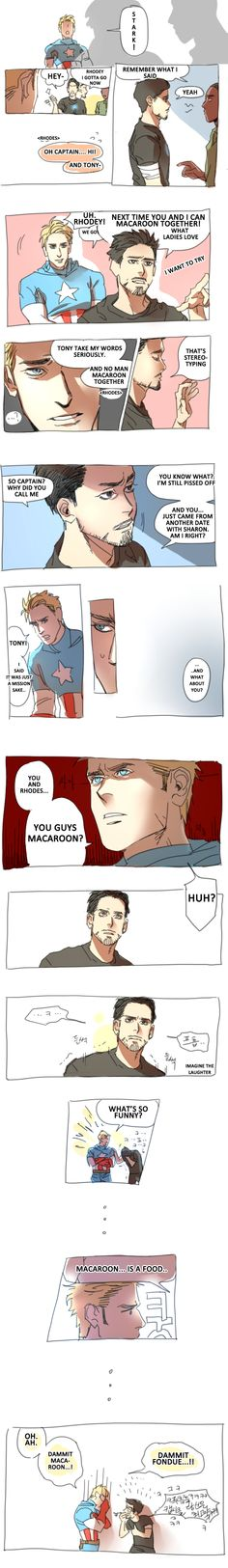 The first avenger fondue thing - Stony Cover