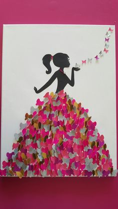 Butterfly Wallpaper, Handicraft, Minnie Mouse, Projects To Try, Cricut, Paper Crafts, Birds, Disney Princess, Fun