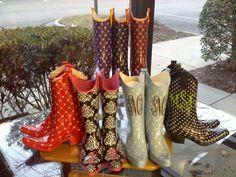 monogrammed rain boots - Google Search