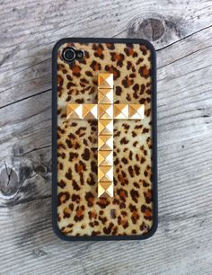 Dear College Lifestyles- I hope you see me rocking this handmade, Leopard Gold Cross iPhone Case (not in class of course!)  #CLb2s