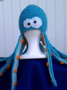 Crochet pattern ozzie the octopus beanie by snappytotscreations, BUT I WANT ONE FOR MYSELF!!!  Lol