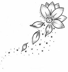 flower outline tattoos | Best Tattoo Design Ideas: Tattoo Ideas by Geraldine Rowland
