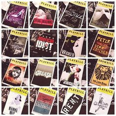 Cinderella, Spring Awakening, Once, The Phantom of the Opera, Bonnie & Clyde, American Idiot, Wicked, Peter and the Starcatchers, Les Miserables, Grease, Jersey Boys, The Lion King, Mamma Mia, RENT, Newsies