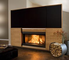 fireplace | Multimedia Fireplace by Vok - combination of fireplace, television ...