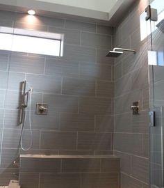Grey Tile in bathroom shower