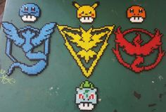 Pokemon Go mini perler beads by the_nerdy_girl_crafter