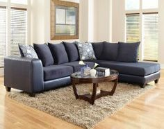Blue sofa decorating ideas sectionals light blue couches for Capitola convertible chaise sofa